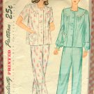 Women's Pajamas Vintage Sewing Pattern Simplicity 2053
