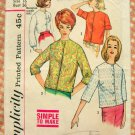 Misses Blouse Mad Men Style Vintage Sewing Pattern Simplicity 4464