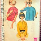 60s Misses Blouse Vintage Sewing Pattern McCalls 7258