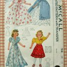 Little Lady Doll Clothes 40s Vintage Sewing Pattern McCalls 918