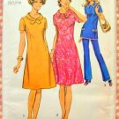Seventies A-line Dress Vintage Sewing Pattern Simplicity 9579