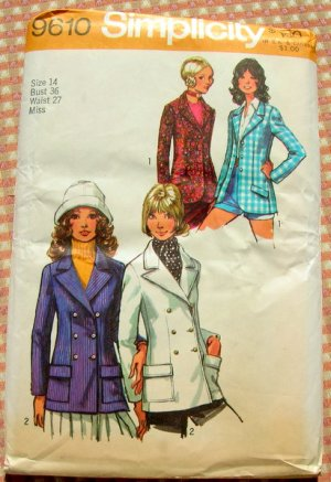 Womens bolero jacket Sewing Pattern 2478 Simplicity
