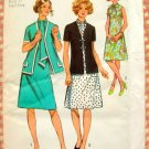Dress and Cardigan jacket 70s Vintage Pattern Simplicity 9888