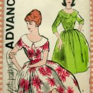 Misses Rockabilly Dress Vintage Sewing Pattern Advance 9653