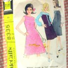 60s Misses A-Line Dress Vintage Sewing Pattern McCalls 8335
