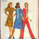 Princess Seaming Midi Dress 70s  Vintage Pattern Simplicity 9605