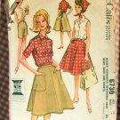 Reversible Wrap Skirt  60s Vintage Sewing Pattern McCalls 6730