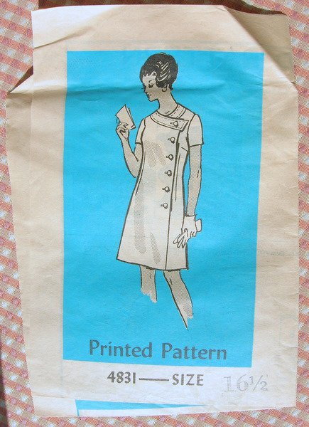 Buttonfront Wrap Dress Anne Adams Vintage Mail Order Sewing Pattern 4831