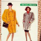 80s Ladies Winter Coat With Shoulder Pads Vintage Sewing Pattern Vogue 7341