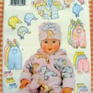 Infant's Winter Jacket, Overalls, Pants, Mittens and Hat Sewing Pattern Butterick 5713