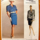 Bill Blass 80s Power Suit Vintage Vogue Sewing Pattern 2048