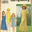 Girl's Bolero Jacket, Empire Dress, Jumper and Hat Sewing Pattern Simplicity 7225