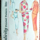 Skirt and Blouse Vintage 50s Sewing Pattern Simplicity 2489