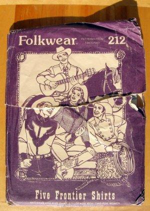 Five Frontier Shirts Sewing Pattern Folkwear 212