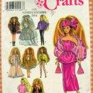 "11 1/2"" Fashion Doll Wardrobe Vintage 90s Sewing Pattern Simplicity 7952"