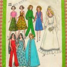 "11 1/2"" Fashion Doll Wardrobe Vintage 70s Sewing Pattern Simplicity 8281"