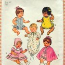 "14"" Baby Doll Wardrobe Vintage 70s Sewing Pattern Simplicity 5275"