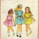 Little Girl's Ruffled Dress Sewing Pattern Simplicity 5437
