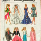 Fashion Doll Clothes 80's Sewing Pattern Simplicity 9334