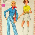 Simplicity 8759 Misses Shirt, Pants and Pantskirt Vintage Sewing Pattern