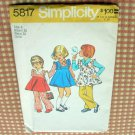 Girls Vintage Pinafore Dress Sewing Pattern Simplicity 5817 sz  5