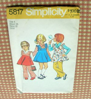 Shift Jumper Dress Shirtdress/ 1960s Pattern/ Casual or Dressy
