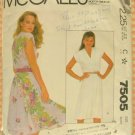 Vintage 80s Pullover Dress McCall&#39;s 7505 Sewing Pattern