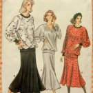 Vintage 80s Vogue Sewing Pattern 9964 Misses Skirt and Top