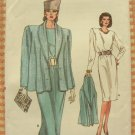 Vintage 80s Vogue Sewing Pattern 9970 Misses Power Dress