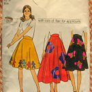 Misses Applique Skirt Vintage Pattern Simplicity 9856