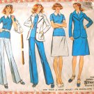Misses Top, Pants, Skirt and Jacket Vintage 70s Pattern Simplicity 5527