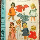 "12"" to 16"" Baby Doll Clothing Vintage Sewing Pattern McCall's 9449"
