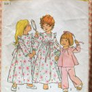 Baby Robe, Nightgown and Pajamas Simplicity 6685 Vintage Sewing Pattern
