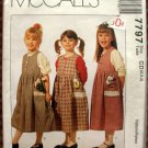 Girl's Jumper Vintage Sewing Pattern McCalls 5061