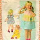 Toddler Summer Dress, Top and Pants Simplicity 7988 Vintage Sewing Pattern