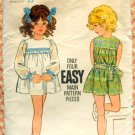 Toddler's Mini Dress Vintage Sewing Pattern Butterick  5790