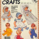 "Baby and Toddler 13"" to 18"" Doll Clothes Sewing Pattern McCall's 2862"