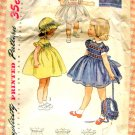 Toddler's Smocked Dress and Bonnet Simplicity 3833 Vintage Sewing Pattern