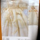 Christening Gown and Bonnet  Sewing Pattern Vogue 1755