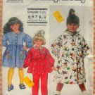 Toddler Dress, Top, Scarf and Pants Simplicity 9891 Vintage Sewing Pattern