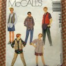 Boys Hip Hop Style Separates McCalls 7194 Vintage 90s Sewing Pattern
