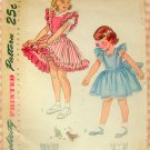 Toddler's Dress, Pinafore and Panties Simplicity 2822 Vintage Sewing Pattern