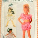 Toddler's  Dress, Crop Top and Shorts Simplicity 9216 80s Vintage Sewing Pattern