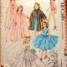 "Vintage 50s Doll Clothes 20"" McCalls Sewing Pattern 2162"