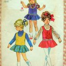 Toddler's Jumper and Blouse Simplicity 8523 60s Vintage Sewing Pattern
