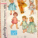 "18"" Baby Doll Wardrobe Vintage 60s Sewing Pattern Simplicity 4839"