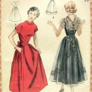 Lace Bodice Dress Vintage 50s Sewing Pattern Butterick 5157