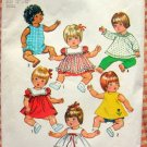 "12"" Baby Doll Wardrobe Simplicity 5947 Vintage Sewing Pattern"