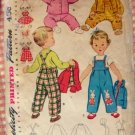 Toddler Overalls, Jacket, Hat Simplicity 4417 Vintage 50s Sewing Pattern