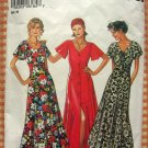 Misses Ankle-Length Dress Vintage 90s New Look Sewing Pattern 6184